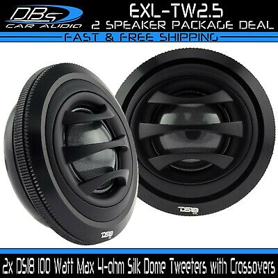 $ CDN60.44 • Buy 2x DS18 2.5  Silk Dome Car Stereo Tweeters 100W 4-ohm With Built-in Crossovers