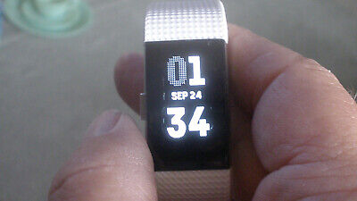$ CDN31.64 • Buy Fitbit Charge 2 Activity Tracker Large Bands Changed White & Black & New Charger