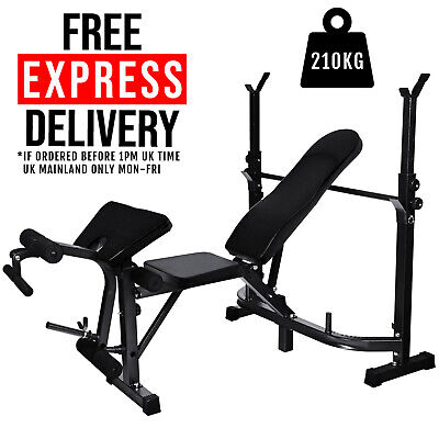 £139.95 • Buy Weight Bench Press Adjustable Incline Fitness Multi Home Gym Dumbell Bicep Curl