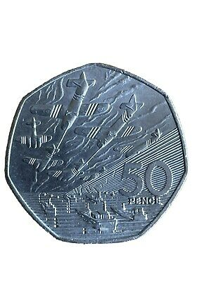 1994 50P COIN RARE D DAY LANDING OLD LARGE STYLE FIFTY PENCE BATTLE OF BRITAIN B • 1.20£