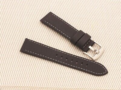 Zuludiver Black Waterproof Sailcloth Quick Release Padded Watch Strap 22mm  • 7.50£