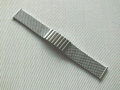 Polished Stainless Steel Shark Mesh Butterfly Clasp Watch Strap 22mm By Geckota • 8.50£