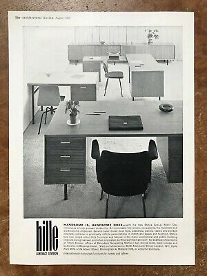 £6 • Buy Robin Day Status Group + Hille Chairs - 1960 Press Cutting R346