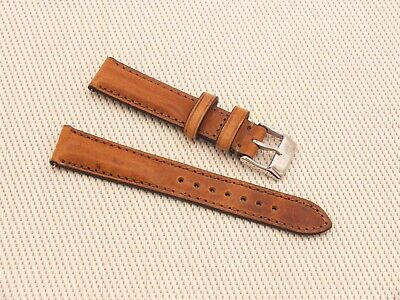 Genuine Italian Leather Quick Release Padded Watch Strap 18mm Brown  By Geckota • 4.19£