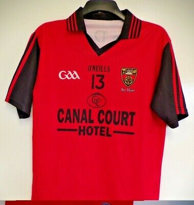 Gaa, O'neills Down Football Shirt, Number 13, Size 13/14 Years, Adult Small • 12£