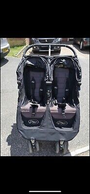 Baby Jogger City Mini Double Pushchair-black • 56£
