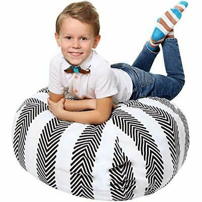 Kids Bean Bag - COVER ONLY - Stuffed Animal Storage - Large Triangle Beanbag • 21.99£