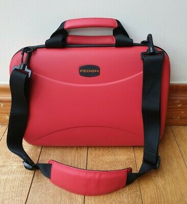 Fedon 1919 Red Tech Briefcase / Bag 13  Laptop • 35£