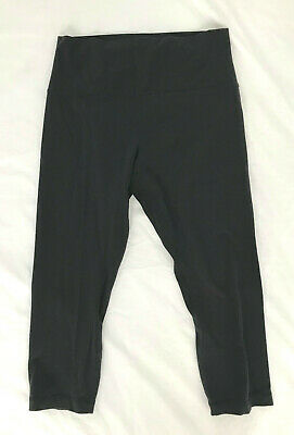 $ CDN25.36 • Buy EUC Black LULULEMON Cropped Leggings Size 10