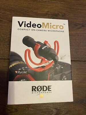 Rode VideoMicro Compact On-Camera Microphone With Rycote Lyre Shock Mount • 31£