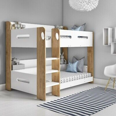 White Bunk Bed Morden Storage Unisex Girl Boy Beds Bed Kids Furniture Kid Big  • 430.99£