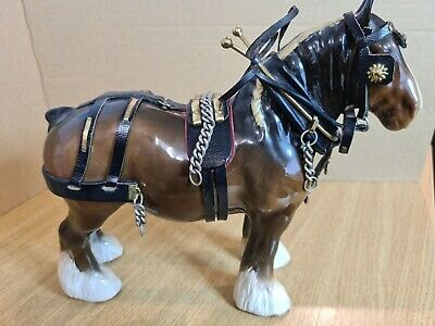 Beswick SHIRE HORSE Mn.818. With Harness.  • 30£