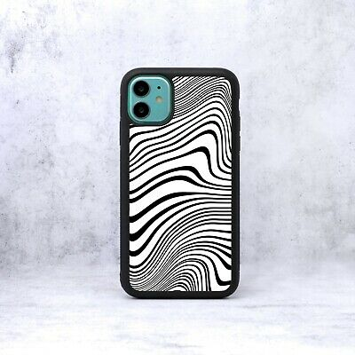 £6.99 • Buy Abstract Distorted Ripple Lines Waves Phone Case/Cover For IPhone Samsung Google