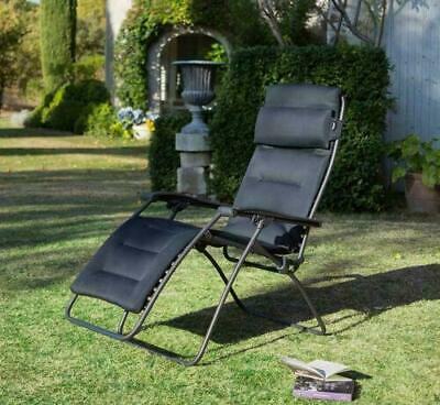 Lafuma Mobilier Premium Padded Recliner Chair RSX Clip Air Comfort Outdoor • 189.99£