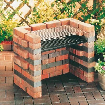 NEW LANDMANN DIY Barbecue BBQ Build Your Own Brick Structure Grill + Tray! • 46.69£