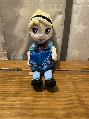 Disney Store Frozen Elsa Soft Toy Animators Doll Plush • 5£