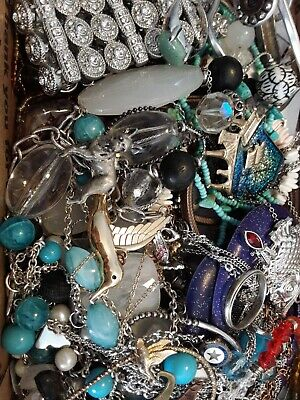 $ CDN18.93 • Buy #9 Vintage To Now Estate Find Jewelry Lot Junk Drawer Unsearched Untested Wear