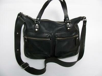 $231.20 • Buy M0851 Canada Black Pebbled Leather Large Cross Body Messenger Hand Bag Purse