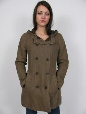 $ CDN143.50 • Buy M0851 Canada Cotton Linen Jacket Wool Lined Ladies Hooded Double Breasted Coat~6