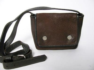 $23.20 • Buy Rugby North America M0851 Brown Leather Over Shoulder Small Messenger Purse Bag