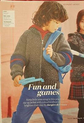 Childs Knitting Pattern. Fun And Games By Bergere De France  • 1£