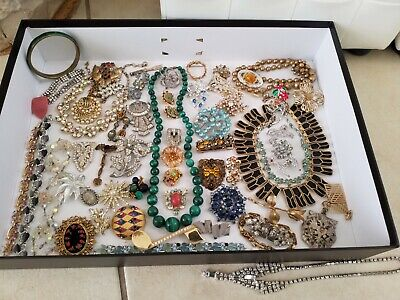 $ CDN124.97 • Buy ✨✨✨✨ Wonderful Estate Jewelry Find Signed Junk Drawer Vintage Jewelry Lot