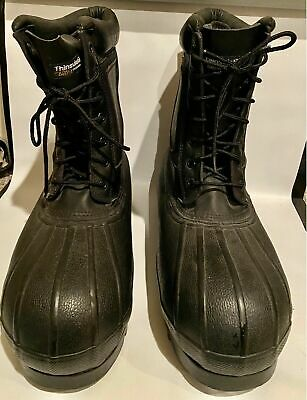 Lacrosse Iceman Black Leather Winter Mens 11 Boots • 36.17£