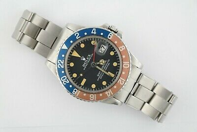 $ CDN25251.95 • Buy Vintage Rolex GMT-Master 1675  Pepsi  Faded Bezel Rivet Oyster Band Circa 1974