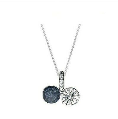 PANDORA Dazzling Wishes Fireworks Dangle Charm Necklace Silver S925 ALE • 24.69£