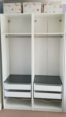 Ikea Pax Double Wardrobe Without Doors • 30£