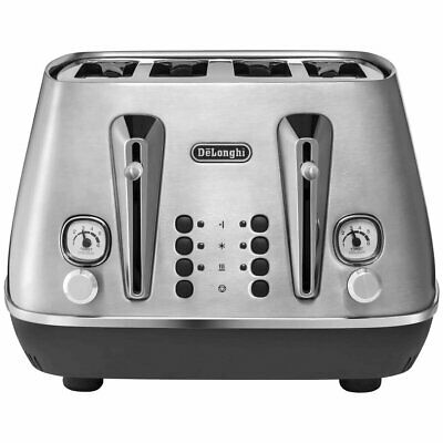 AU249 • Buy Delonghi Livenza Metal 4 Slice Bread Toaster NEW Electric Sandwich Toaster