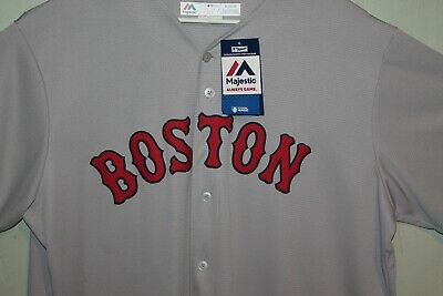 $49.99 • Buy Boston Red Sox MLB Majestic Gray Road Cool Base Team Jersey -  Blank Back -  NEW