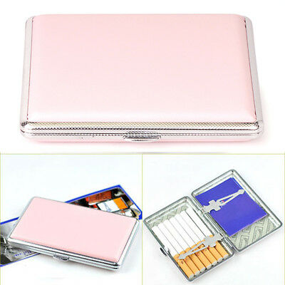 Womens Leather Cigarette Case Box 100's Hold For 14 100mm Cigarettes • 4.96£