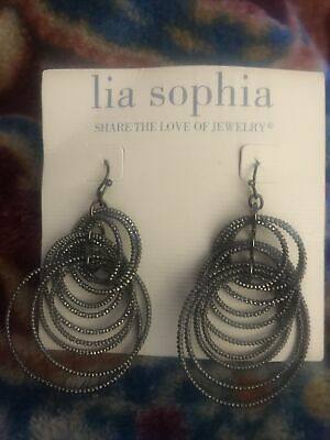 $ CDN3.77 • Buy NWT Lia Sophia VOLTAGE Drop Earrings Black Circles