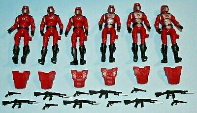 $ CDN63.12 • Buy Lot Of 6  Gi Joe Cobra Crimson Guard With Backpack, Rifle & Pistol