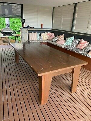 AU200 • Buy Solid Oregon Timber Dining Table - Seats 8 Ppl