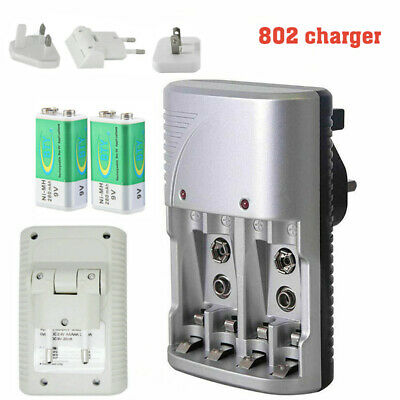 £5.39 • Buy Mains Multi Slot Battery Charger For AA AAA & 9V Sizes Rechargeable Batteries