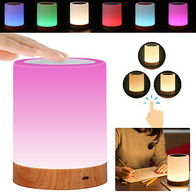 £9.99 • Buy Touch Night Light USB Rechargeable LED Bedside Table Mood Lighting Lamp Dimmable