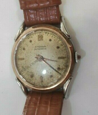 Vintage Eterna Automatic Cal 1158H Military Mens Watch • 212.16£