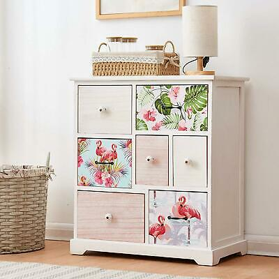 Cherry Tree Furniture Flamingo & Tropical Leaves Pattern Solid Paulownia Wood 7- • 119£