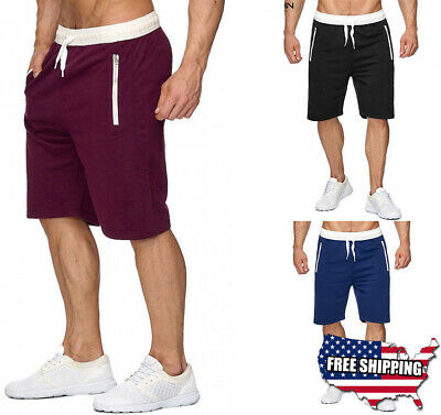 $16.99 • Buy Man's Casual Sweat Shorts Sport Pants Slim-Fit Summer Beach Gym Fitness Workout