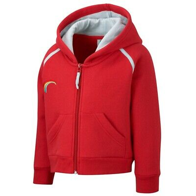 £10.75 • Buy Official Rainbows Uniform Zip Hoodie Top Red - Size XS - Brand New With Tags