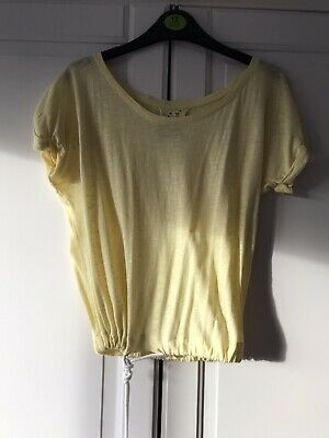 Primark Yellow Top With String Tie Bottom Size 10 • 1.50£