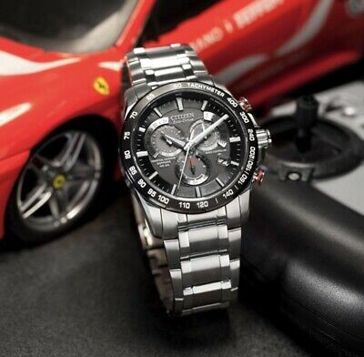 Citizen Eco-Drive Chronograph Watch With Black Dial And Stainless Steel Bracelet • 62.10£