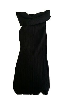 By The Way Sweater Dress Slim Black Size Xs Off The Shoulder • 5.06£