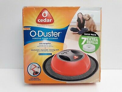 O-Cedar O-Duster Robotic Floor Cleaner W/ Duster Cloths TESTED New Open Box • 28.22£