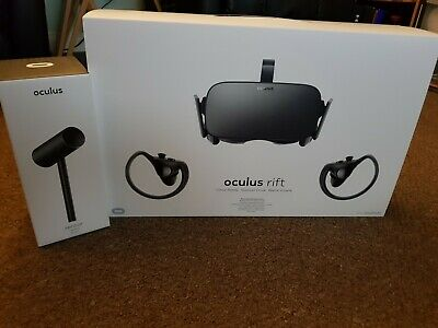 Oculus Rift CV1 PC VR Headset With 2 Touch Controllers And 3 Sensors • 135£
