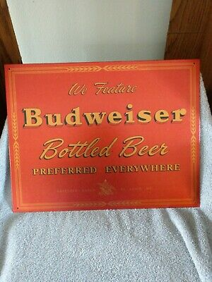 $ CDN20.24 • Buy We Feature Budweiser Bottled Beer Metal Sign Garage Man Cave EUC