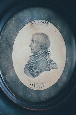 £181.86 • Buy ORIGINAL Miniature Portrait Engraving Of Lord Admiral Horatio Nelson. C. 1810