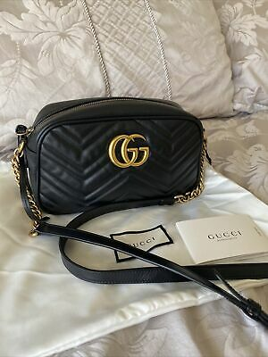 AU849.99 • Buy Authentic Gucci Marmont Black Leather Small Camera Bag RRP $1895!